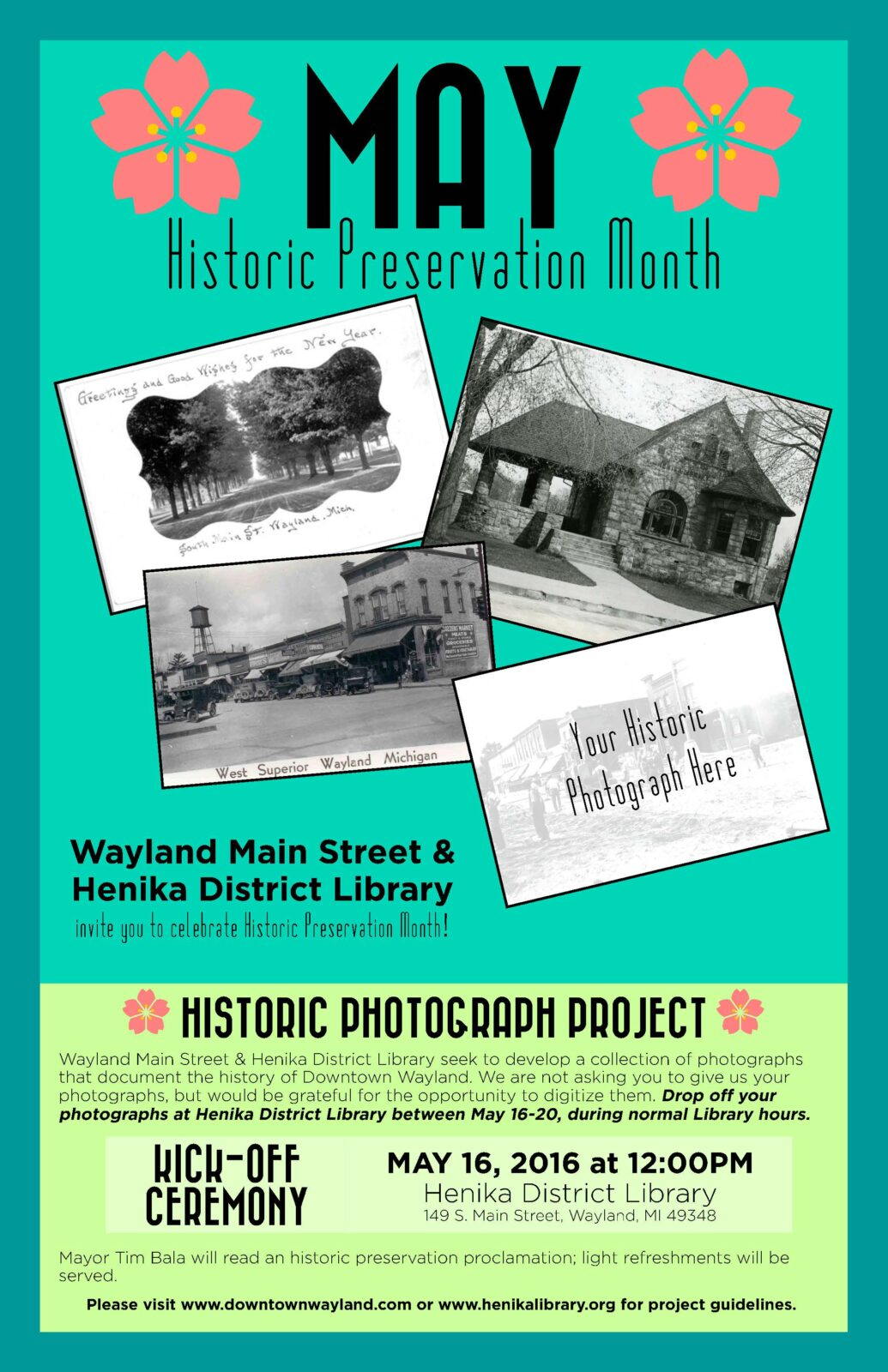 Wayland 2016 Preservation Month Poster_Photography Campaign