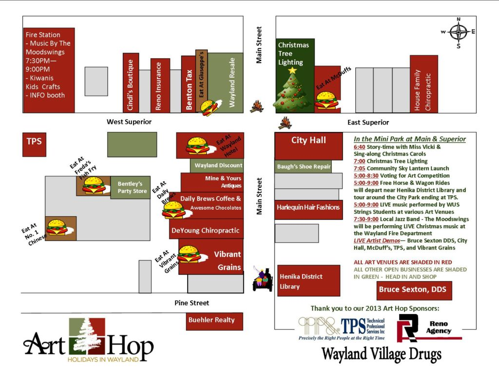 Art Hop Map 2013